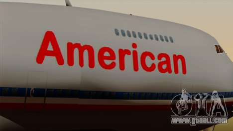 Boeing 747-100 American Airlines for GTA San Andreas back view