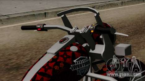Classic Batik Motorcycle for GTA San Andreas right view