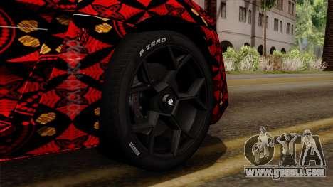 Lykan Hypersport Batik for GTA San Andreas back left view
