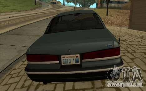 Ford Crown Victoria 1995 SA Style for GTA San Andreas back left view