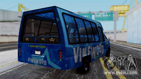Vinewood VIP Star Tour Bus for GTA San Andreas left view