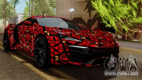 Lykan Hypersport Batik for GTA San Andreas
