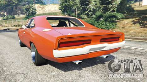 GTA 5 Dodge Charger 1970 Fast & Furious 7 rear left side view