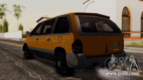 Minivan Cabbie SA Style for GTA San Andreas left view
