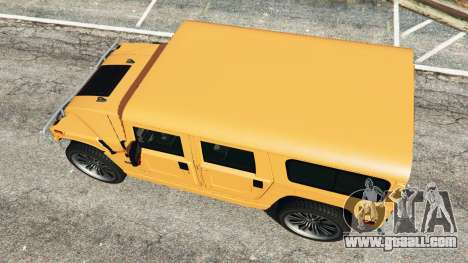 GTA 5 Hummer H1 back view