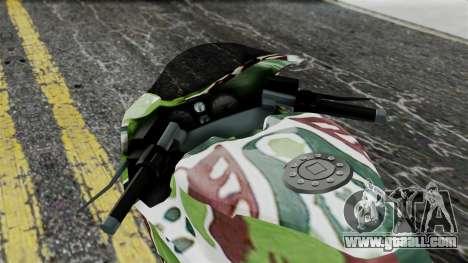 Bati Wayang Camo Motorcycle for GTA San Andreas back view
