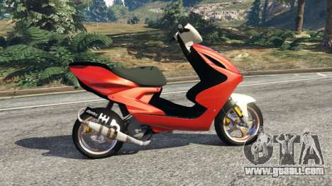 GTA 5 Yamaha Aerox left side view