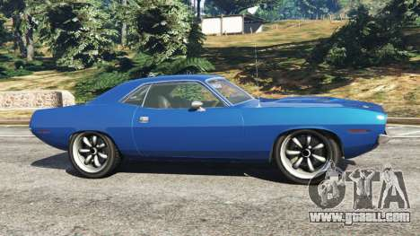 GTA 5 Plymouth Barracuda 1970 left side view