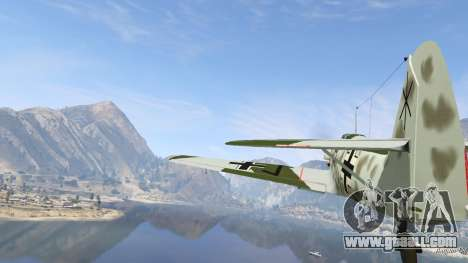GTA 5 Messerschmitt BF-109 E3 v1.1 sixth screenshot