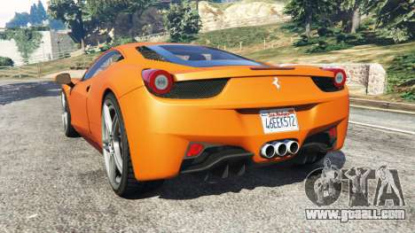 GTA 5 Ferrari 458 Italia 2009 rear left side view