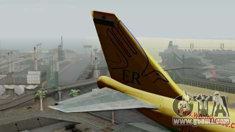 Boeing 747-400 World Peace for GTA San Andreas back left view