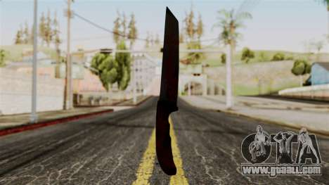 New bloody knife for GTA San Andreas second screenshot