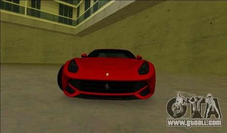 Ferrari F12 Berlinetta for GTA Vice City left view
