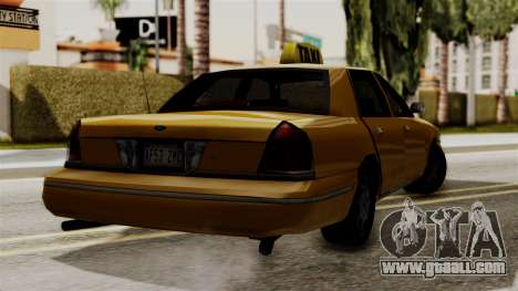 Ford Crown Victoria LP v2 Taxi for GTA San Andreas back left view