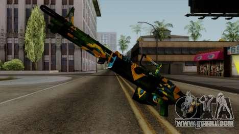 Brasileiro Minigun v2 for GTA San Andreas second screenshot