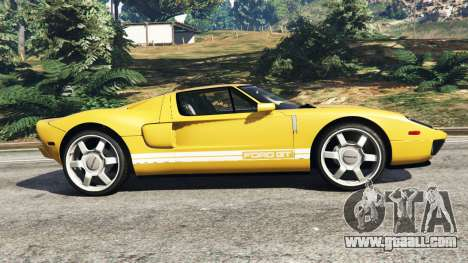 GTA 5 Ford GT 2005 v1.1 left side view