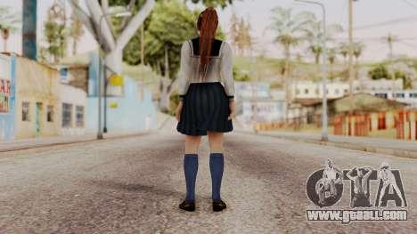 DOA 5 Kasumi School Girl for GTA San Andreas third screenshot