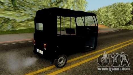 Indian Auto Rickshaw Tuk-Tuk for GTA San Andreas left view