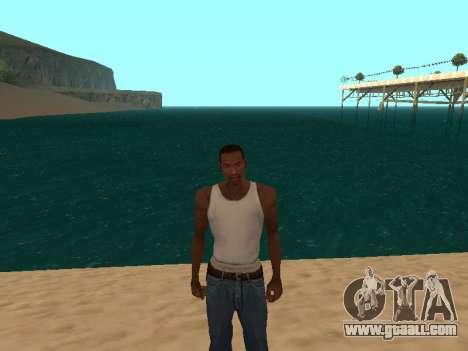 Dark green realistic water for GTA San Andreas second screenshot