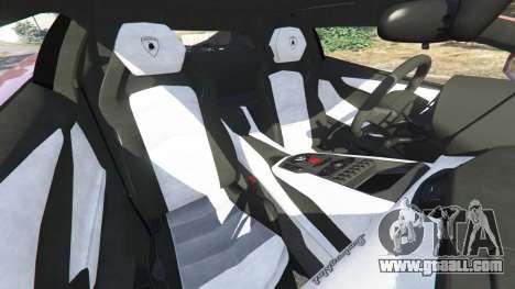 GTA 5 Lamborghini Aventador LP700-4 2012 front right side view