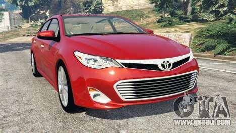 Toyota Avalon 2014 for GTA 5