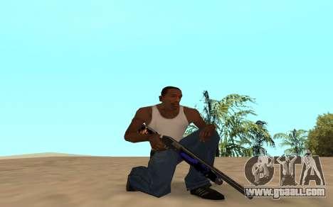 Shotgun with a tiger cub for GTA San Andreas forth screenshot
