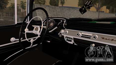 Chevrolet Bel Air Sport Coupe (2454) 1957 HQLM for GTA San Andreas right view