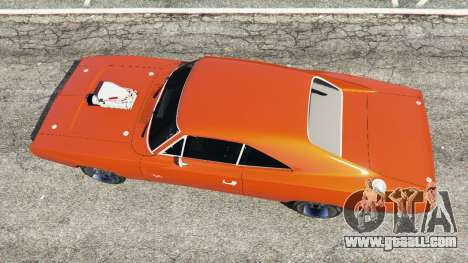GTA 5 Dodge Charger 1970 Fast & Furious 7 back view