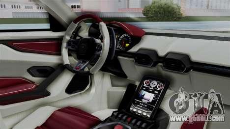 Lamborghini Asterion Concept 2015 v2 for GTA San Andreas right view