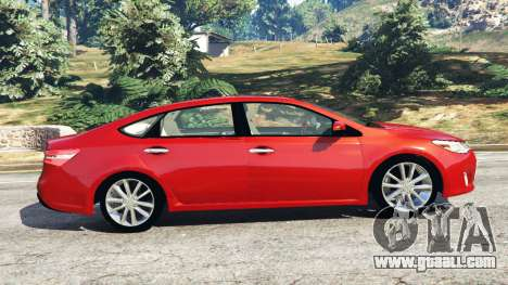 GTA 5 Toyota Avalon 2014 left side view