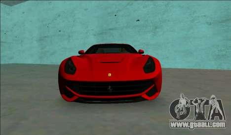 Ferrari F12 Berlinetta for GTA Vice City right view