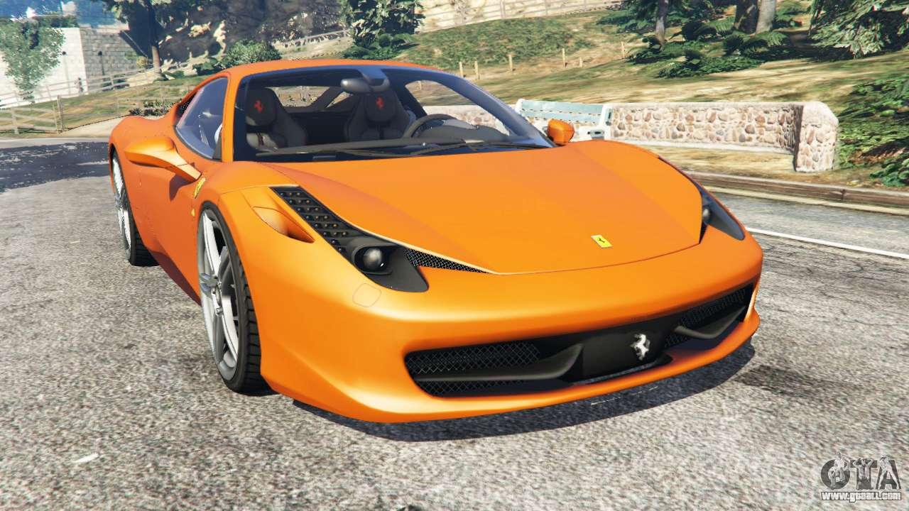 ferrari 458 italia 2009 for gta 5