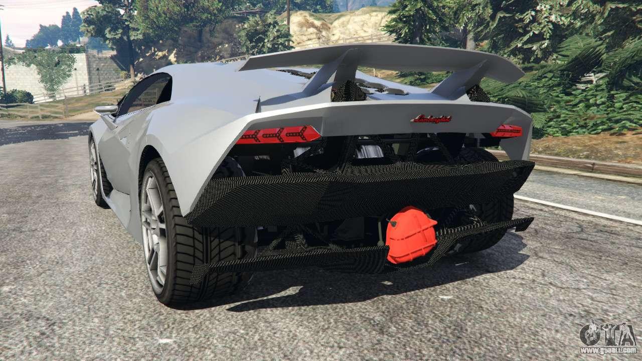 GTA 5 Lamborghini Sesto Elemento V0.5 Rear Left Side View