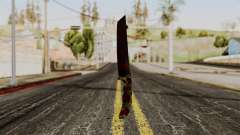 New bloody knife camo for GTA San Andreas