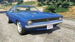 Plymouth Barracuda 1970 for GTA 5