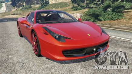 Ferrari 458 Italia 2009 v1.3 for GTA 5