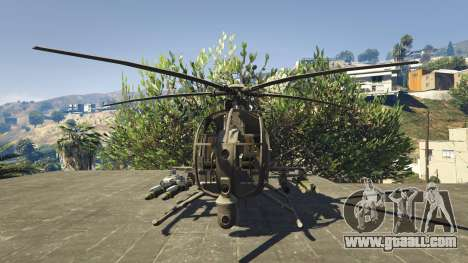 GTA 5 MH-6/AH-6 Little Bird Marine third screenshot