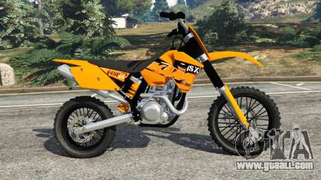 GTA 5 KTM 450SX Racing 2007 left side view