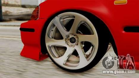 Honda Civic Sedan for GTA San Andreas back left view