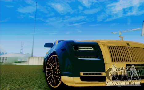 Rolls-Royce Ghost Mansory for GTA San Andreas upper view