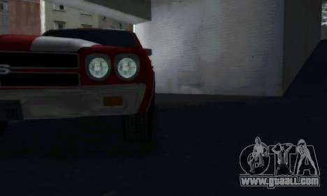 Chevrolet Chevelle SS [Winter] for GTA San Andreas back left view