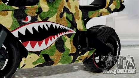 Bati Motorcycle Camo Shark Mouth Edition for GTA San Andreas right view