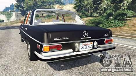 GTA 5 Mercedes-Benz 300SEL 6.3 v1.2.3 rear left side view