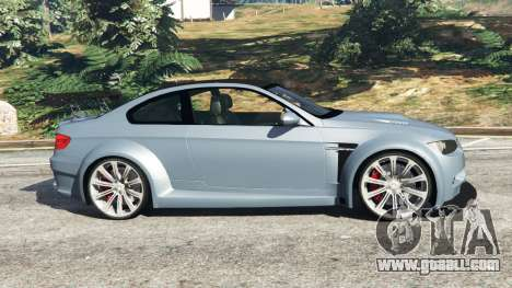 GTA 5 BMW M3 (E92) WideBody v1.0 left side view