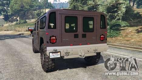 GTA 5 Hummer H1 v2.0 rear left side view