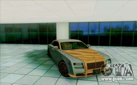 Rolls-Royce Ghost Mansory for GTA San Andreas interior