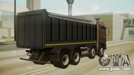 MAN TGS 8x4 Dumper for GTA San Andreas left view