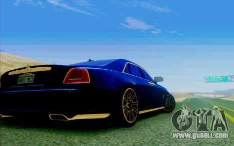 Rolls-Royce Ghost Mansory for GTA San Andreas inner view
