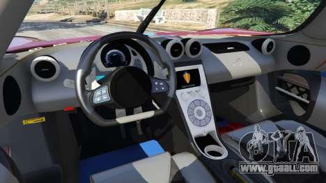 GTA 5 Koenigsegg Agera v0.8.5 [Early Beta] rear right side view