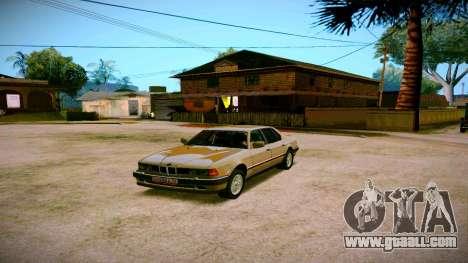 BMW 735il E32 1992 for GTA San Andreas
